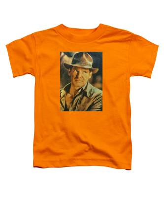 Harrison Ford As Indiana Jones Toddler T-Shirt