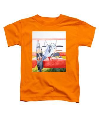 Reflection On Biplane Toddler T-Shirt