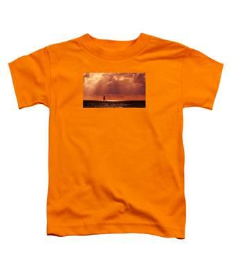 Sailboat Sun Rays Toddler T-Shirt