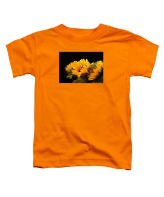 Sunflowers On A Black Background Toddler T-Shirt