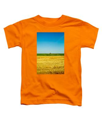 Tricolor With Tractor Toddler T-Shirt
