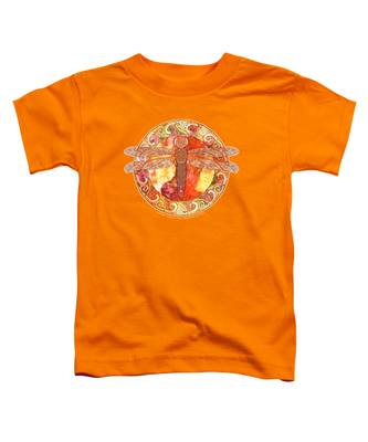Warm Celtic Dragonfly Toddler T-Shirt
