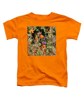 Toddler T-Shirt featuring the photograph Desert Wildflowers by Judy Kennedy
