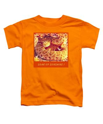 Toddler T-Shirt featuring the photograph Soak Up Sunshine by Judy Kennedy