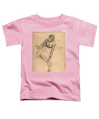 Dancer Adjusting Her Slipper Toddler T-Shirt