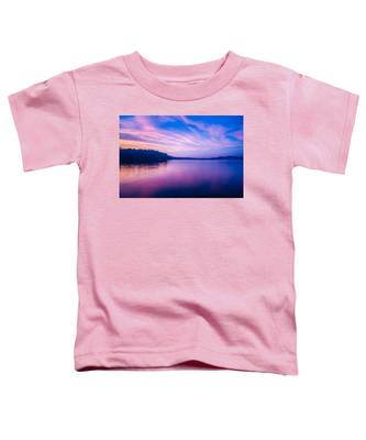 Sunset During Blue Hour At The Lake Toddler T-Shirt