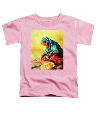 African Chai Tea Lady. Toddler T-Shirt