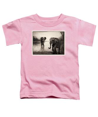 African Elephants At Sunset Toddler T-Shirt