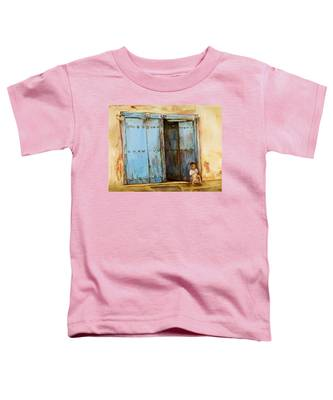Child Sitting In Old Zanzibar Doorway Toddler T-Shirt