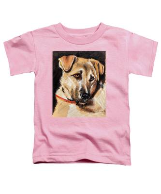 Dog Portrait Drawing Toddler T-Shirt
