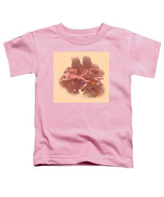 Double Hibiscus Portrait Toddler T-Shirt