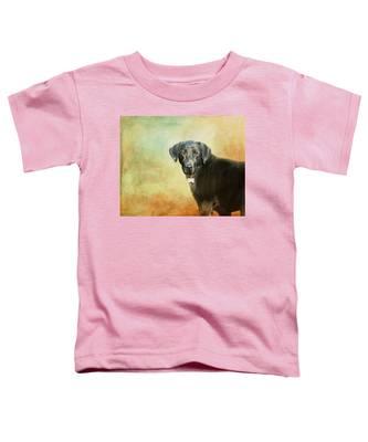 Portrait Of A Black Labrador Retriever Toddler T-Shirt