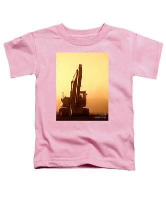 Sunset Excavator Toddler T-Shirt