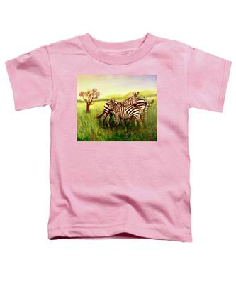 Zebras At Ngorongoro Crater Toddler T-Shirt