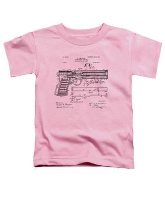 1903 Mcclean Pistol Patent Artwork - Vintage Toddler T-Shirt