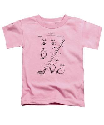 Vintage 1910 Golf Club Patent Artwork Toddler T-Shirt