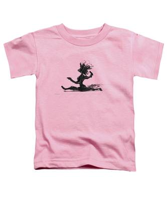 Toddler T-Shirt featuring the painting Dancer by Manuel Sueess