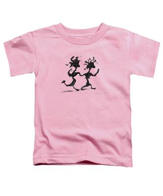 Toddler T-Shirt featuring the painting Dancing Couple 7 by Manuel Sueess