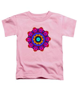 Glowing Fractal Flower Toddler T-Shirt