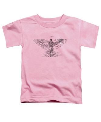Icarus Human Flight Patent Artwork - Vintage Toddler T-Shirt