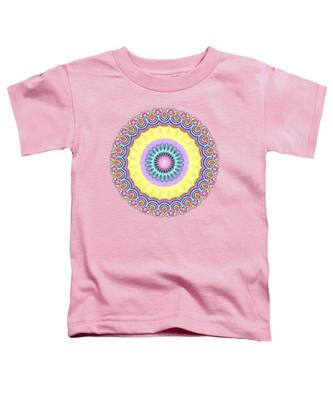 Pastel Peacock Fractal Flower Toddler T-Shirt