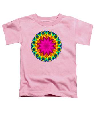 Peacock Fractal Flower I Toddler T-Shirt