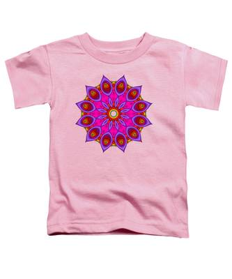 Peacock Fractal Flower II Toddler T-Shirt