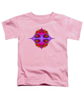 Peacock Peebles Fractal Toddler T-Shirt