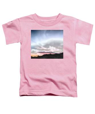 Toddler T-Shirt featuring the photograph Submarine In The Sky by Judy Kennedy