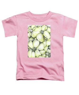 Yellow Flowers Pencil Toddler T-Shirt