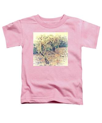 Toddler T-Shirt featuring the photograph Chain Fruit Cholla by Judy Kennedy