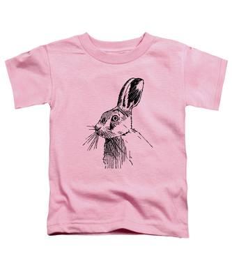 Hare On Burlap Toddler T-Shirt
