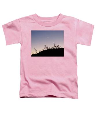 Toddler T-Shirt featuring the photograph Libra Twilight Crescent by Judy Kennedy