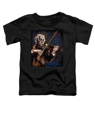 Albert Einstein And Violin Toddler T-Shirt
