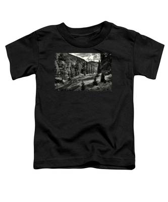 Clouds Over The Mountainscape Toddler T-Shirt