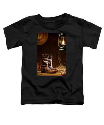 Cowboy Boots At The Ranch Toddler T-Shirt