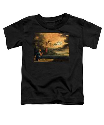 Elijah Taken Up Into Heaven In The Chariot Of Fire Toddler T-Shirt