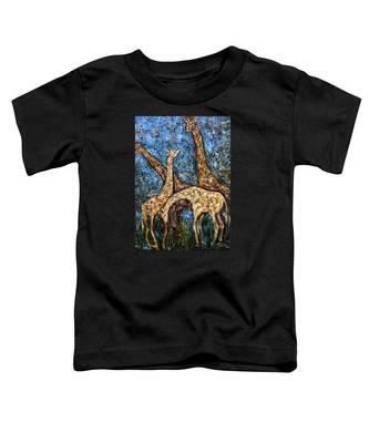 Giraffe Family Toddler T-Shirt