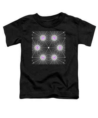 Toddler T-Shirt featuring the digital art Infinity Grid Six by Derek Gedney