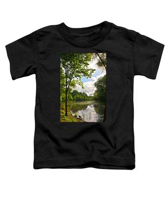 July Fourth Duck Pond With Goose Toddler T-Shirt