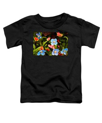 New World And Old World Exotic Flowers Toddler T-Shirt