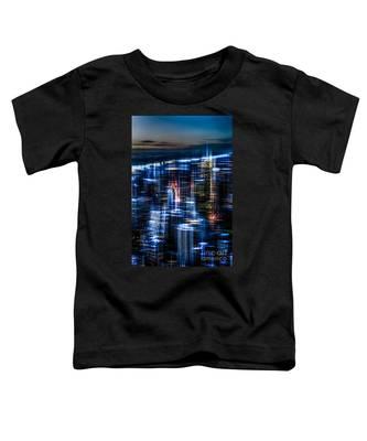 New York - The Night Awakes - Blue I Toddler T-Shirt