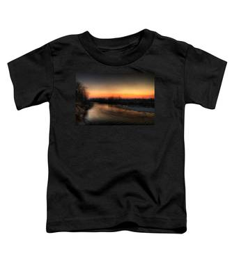 Riverscape At Sunset Toddler T-Shirt