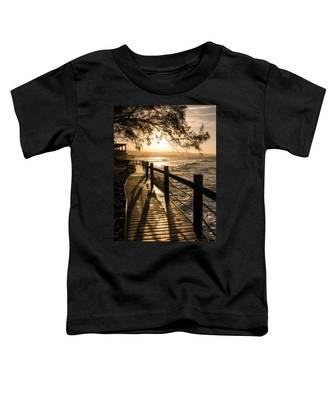 Sunset Over Ocean Walkway Toddler T-Shirt
