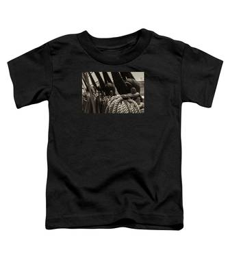 Tied Up Black And White Sepia Toddler T-Shirt