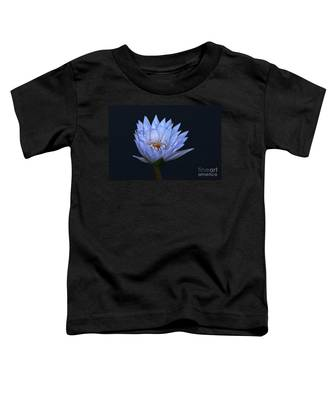 Water Lily Shades Of Blue And Lavender Toddler T-Shirt