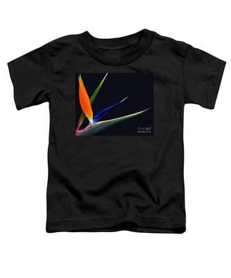 Bright Bird Of Paradise Rectangle Frame Toddler T-Shirt