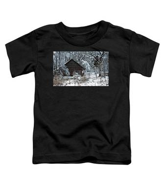 Snow Covered Barn Toddler T-Shirt