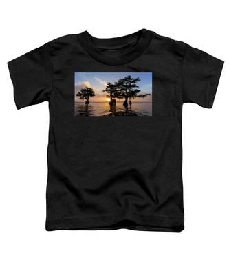 Blue Cypress Lake Morning Toddler T-Shirt