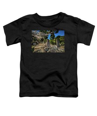 47 Samurai And Cherry Blossoms Toddler T-Shirt by Ross Henton